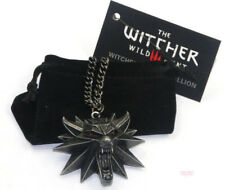 The Witcher 3 Wolf Pendant Necklace (New with Bag) - UK Dispatch