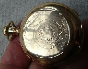 Antique Columbus pocket watch, 16 size, HC, LS, 3/4 plate, made 1896
