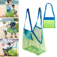 Portable Sand Away Beach Shoulder Mesh Bag Kids Object Toy Storage Bag Net UK