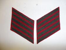 b0667-5 WW2 USMC Winter Long Service Stripes 20 year Pr green on red wool R6A