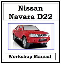 NISSAN NAVARA D22 1997-2008 FACTORY WORKSHOP MANUAL ON CD - THE BEST !!