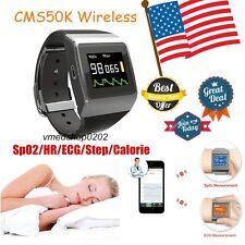 US CMS50K Wrist SpO2/ECG Heart Rate Monitor,Pedometer,Calorie Watch Recorder+ SW