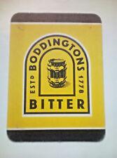 Vintage BODDINGTONS BEER - Cat No'71 Beermat / Coaster