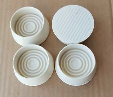 4 x Rubber Castor Cups High Side Anti Scratch Floor Protector Carpet WoodenTile