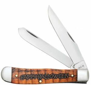 Case xx 2021 Happy Halloween Trapper Orange Bone 10599 Pocket Knife Stainless