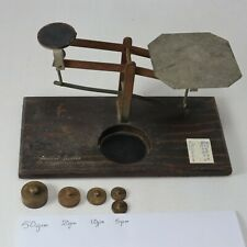 Post Office Scales plus 5 Weights Vintage Collectable