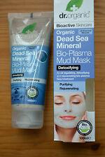 Vendita! DR. ORGANIC Dead Sea Mineral Bio-maschera di fango al plasma 100 ml RRP £ 8.29