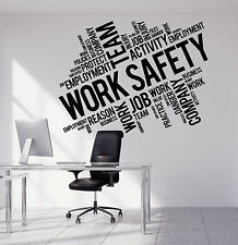 Vinyl Wall Decal Work Safety Business Office Team Decoration Stickers (ig4895)