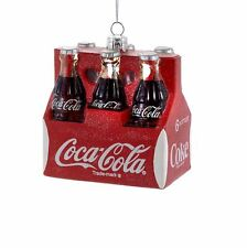 "CC4101 3.5"" Classic Coca-Cola® Six Pack Bottles Glass Holiday Christmas Ornament"