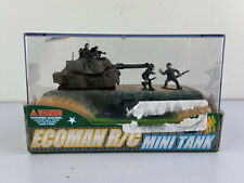 Ecoman Rc Radio Control Mini Desert Camo Tank 12' Control Range Micro Motor Toy