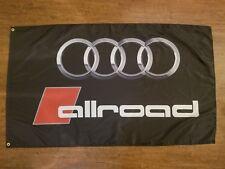 AUDI ALLROAD FLAG BANNER 3X5FT AVANT C5 B8 QUATTRO 2.7BITURBO V6 A4 ALLROAD A6