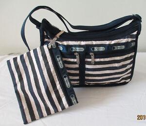 LeSportsac 7507 Deluxe Everyday Bag Cotton Stripe NWT