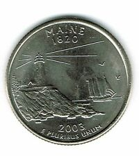2003-P Brilliant Uncirculated Maine 23TH State Quarter Coin!
