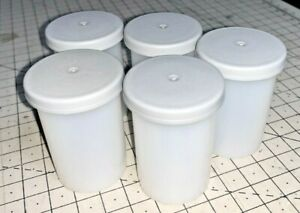 A Set of FIVE Kodak Empty Film Canisters from 35mm colour film, with lids