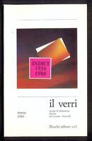 IL VERRI ottava serie n. 9  marzo 1989 Indici 1956 1988  Mucchi Editore