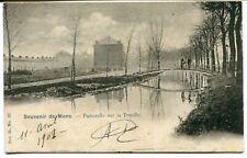 CPA - Carte Postale - Belgique - Mons - Passerelle sur la Trouille - 1901 (DG151