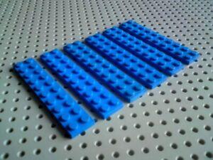 Lego Plate 2x10 [3832] Blue x6