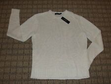 NEW Men's Polo Ralph Lauren Cream White Italian Yarn 100% Linen Sweater, XL