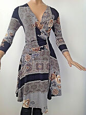 AXARA DESINED IN PARIS MULTICOLORED ASYMMETRICAL HEM SEXY STRETCHED DRESS S,XS