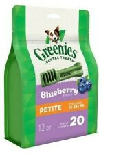 New listing Greenies Blueberry Flavor Petite Dog Dental Chews, 12 oz., Count of 20