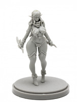 Dark Elf Varian Model Resin Figure for Table Top Game Kingdom Death Recast 32 mm