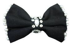 Choker Krawatte Fliege Collier Perlen Diamanten Strass Blogger Schwarz SL-437