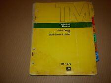 John Deere 70 Skid Steer Loader Technical Service Repair Manual , TM-1072