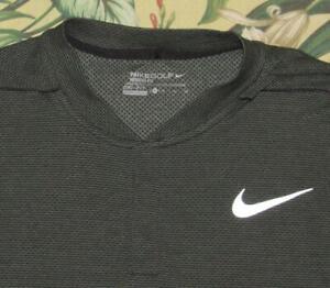 NIKE Green AeroReact Short Sleeve Henley Blade Polo Shirt XL