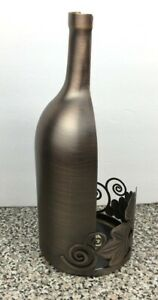 Bath & Body Works Mini Candle Holder Wine Bottle Gold Copper For 14.5oz