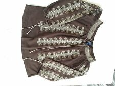 Scoop NYC Boho Brown Tunic Size 10