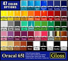 "3 rolls 24"" Oracal 651 Gloss adhesive backed vinyl Sign & Craft, Outdoor Quality"