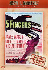 Five Fingers NEW PAL Classic DVD J. Mason D. Darrieux