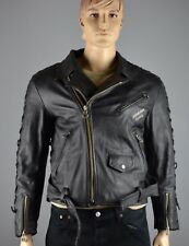 Harro Freeway Lederjacke Biker Rocker Vintage Jacke Gr.52  (LJ361)