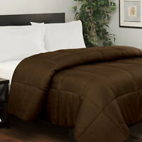Chocolate Solid 5PC Bed Set (Comforter&Sheet Set)US Sizes 1000TC Egyptian Cotton