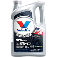 5 Quart Valvoline SynPower Full Synthetic Motor Oil SAE 0W-20 Engine Cleaner New