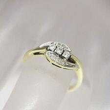 Anello con circa 0,10ct W-SI Diamante in 585/14k GIALLO