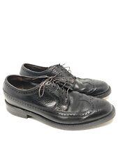VTG The Florsheim Imperial Black Wing Tip Shoe 9 D