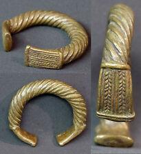 N2 Art d'afrique 1900 superbe bracelet bronze patiné 145g8cm bijou ancien rare