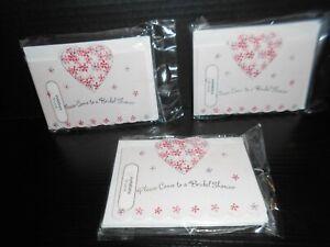 American Greetings Pink Flower Bridal Shower Invitations Lot of 30