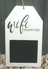 White Wifi Password chalkboard black board decorative display sign shabby chic