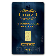 1/2 gram Gold Bar - Istanbul Gold Refinery (In Assay) - SKU #64156