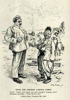"""VINTAGE 1918 PUNCH Cartoon: """"WITH THE CHINESE LABOR CORPS"""" - {British Racism}"""