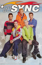 POSTER : MUSIC : N SYNC -  COLLAGE OF ALL     FREE SHIPPING    #7548      RP57 J