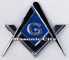 Z-135 Blue Masonic Auto Emblem FreeMasonry Car Lodge Mason Blue Free & Accepted