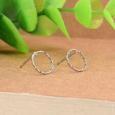 Fashion Women Gold Silver Round Big Hoop Circle Earrings Ear Studs Charm Jewelry