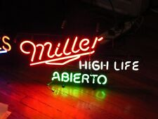Miller High Life Abierto - 90's Neon Light Signs - In Spainish