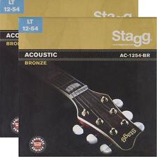 2x Gitarrensaiten Satz 012-054 Western Akustik Gitarre Bronze 12er Saiten Seiten