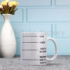 Poop Ceramic Printed Tea Cup Coffee Mug Sublimation Printing 350ml Gift White