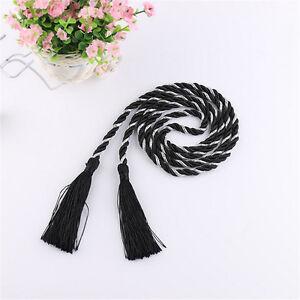 1 Pair Braided Ropes Many Colors Curtain Tiebacks Holdbacks Cord Tassels Decors