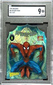 SPIDER-MAN 1996 Skybox Wizard #8 Chromium  SGC 9 LOW POP under 10 DIE-CUT psa